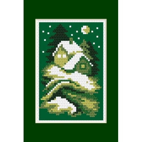 Zestaw z muliną - Kartka świąteczna - Cicha noc