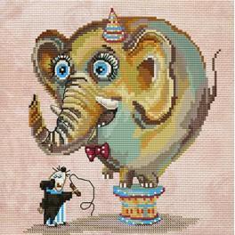 Zestaw z muliną i koralikami - Circus elephant