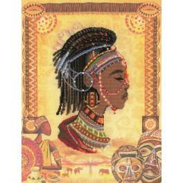 Zestaw z muliną i koralikami - Afrykańska księżniczka