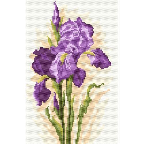 Zestaw z muliną i koralikami - Piękne kwiaty