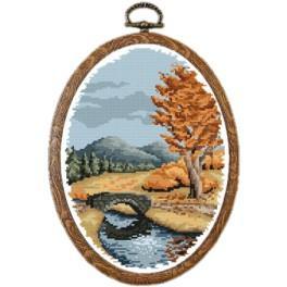 ZI 4874 Zestaw do haftu z muliną i koralikami - Jesień