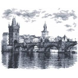 Zestaw z muliną i koralikami - Most Karola