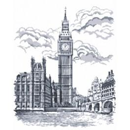 Zestaw z muliną i koralikami - Big Ben