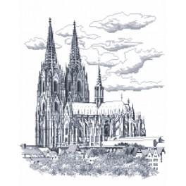 ZI 4980 Zestaw do haftu z muliną i koralikami - Katedra Kolonia