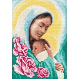 ZI 8214 Zestaw do haftu z muliną i koralikami - Maryja z dzieciątkiem
