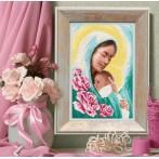 Zestaw z muliną i koralikami - Maryja z dzieciątkiem
