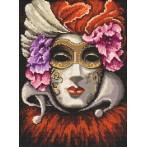 Zestaw z muliną i koralikami - Wenecka maska