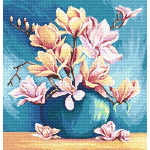 Zestaw z muliną i koralikami - Czar magnolii