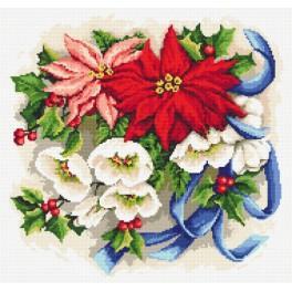 Zestaw z muliną i koralikami - Świąteczna kompozycja