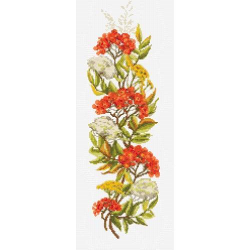 Zestaw z muliną i koralikami - Jarzębina czerwona