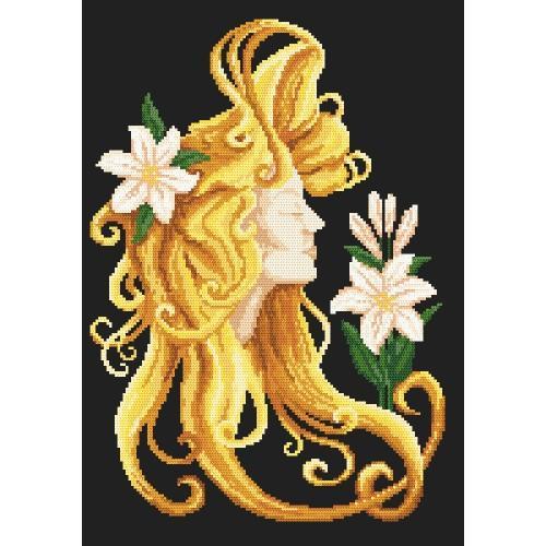 Zestaw z muliną i koralikami - Lato we włosach