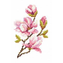 Zestaw z muliną i koralikami - Magnolia