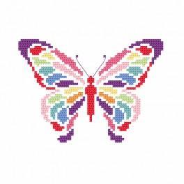 ZI 8695 Zestaw do haftu z muliną i koralikami - Motylek