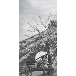 NCB 0104 Zestaw do haftu z podmalowanym tłem - Paryż - miasto miłości. Dzieciństwo
