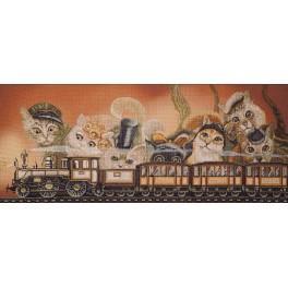 Zestaw z muliną i podmalowanym tłem - Express train