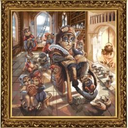 Zestaw z muliną i podmalowanym tłem - Dziadek