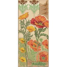 Zestaw z muliną i podmalowanym tłem - Floral vernissage