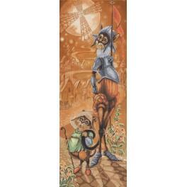 Zestaw z muliną i podmalowanym tłem - Don QuiCat and Sancho