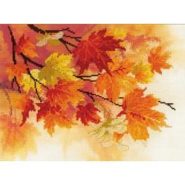 Zestaw z muliną i podmalowanym tłem - Jesienne barwy