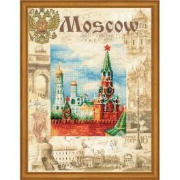 Zestaw z muliną i podmalowanym tłem - Miasta świata. Moskwa