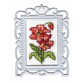 Zestaw z muliną - Czerwone kwiaty - mini