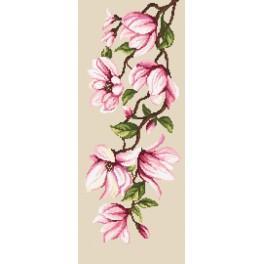 Zestaw z nadrukiem i muliną - Delikatne magnolie