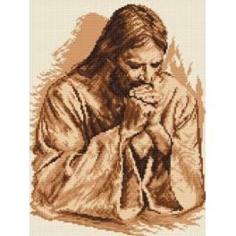 ZN 4103 Zestaw z nadrukiem i muliną - Modlitwa Jezusa