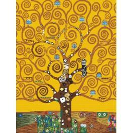 Zestaw z nadrukiem i muliną - Drzewo życia – G. Klimt
