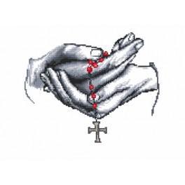 ZN 4368 Zestaw z nadrukiem i muliną - Moja modlitwa