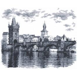 ZN 4947 Zestaw z nadrukiem i muliną - Most Karola