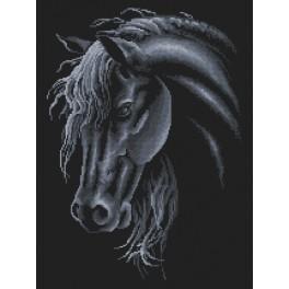 Zestaw z nadrukiem i muliną - Koń kary