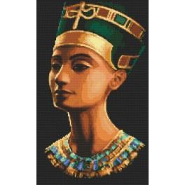 Zestaw z nadrukiem i muliną - Nefertiti
