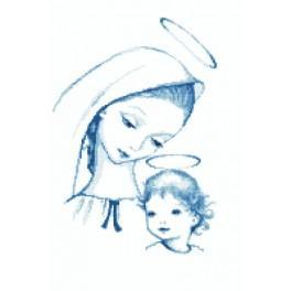 ZN 8286 Zestaw z nadrukiem i muliną - Niebiańska Maryja