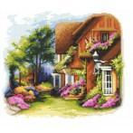 Zestaw z nadrukiem i muliną - Tajemniczy ogród