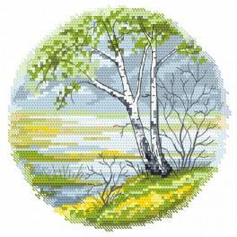 Zestaw z nadrukiem i muliną - Cztery pory roku – wiosna