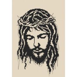 ZN 8400 Zestaw z nadrukiem i muliną - Jezus w koronie cierniowej