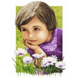 ZN 8563 Zestaw z nadrukiem i muliną - Sielskie dzieciństwo