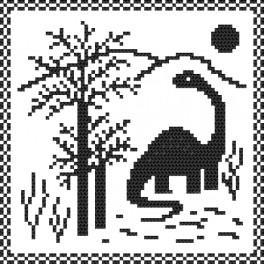 Zestaw z nadrukiem i muliną - Dino