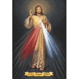 Zestaw z nadrukiem i muliną - Jezus miłosierny