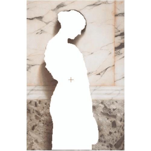 Aida z podmalowanym tłem - Dziewczynka z tamburynem
