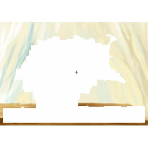 Aida z podmalowanym tłem - Nasturcje w wazonie