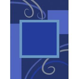 Aida z podmalowanym tłem - Niebieski klematis