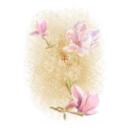 Aida z podmalowanym tłem - Magnolia