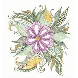 Zestaw z włóczką - Kwiat paproci