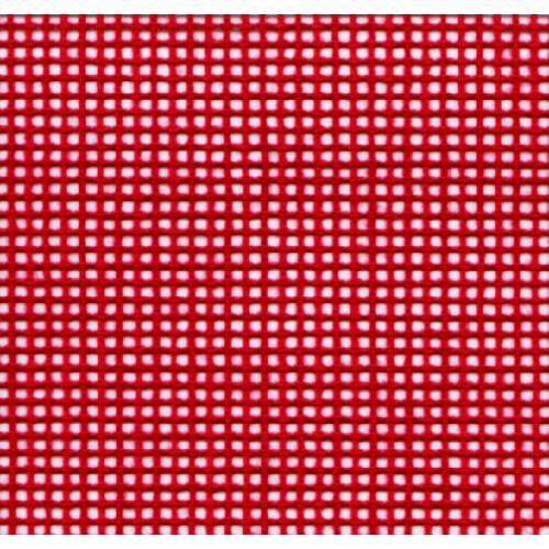 Kanwa kolorowa - 56/10cm (14 ct) – 21x28 cm czerwona