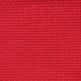 AIDA 54/10cm (14 ct) 15x20 cm czerwona