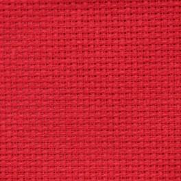 AIDA 54/10cm (14 ct) 20x25 cm czerwona