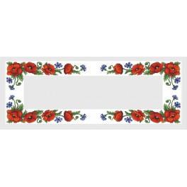 Zestaw z muliną i bieżnikiem – Bieżnik z polnymi kwiatami