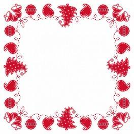 Zestaw z muliną i serwetką - Serwetka – Świąteczna fastryga