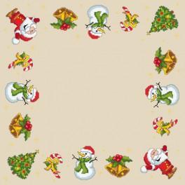 Zestaw z muliną i serwetką - Serwetka świąteczna
